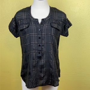 Joe's Jeans black and gold top size XS